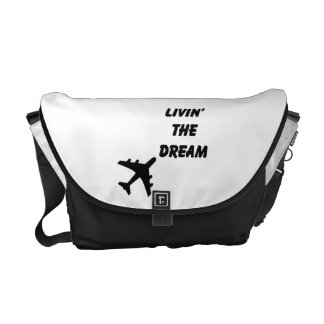 Travel Messenger Tote Bag-Airplane Messenger Bags