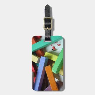 Travel  Monogram Rainbow Pastel Chalks Luggage Tag