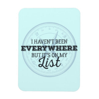 Travel more compass stamp motivational quote rectangular photo magnet