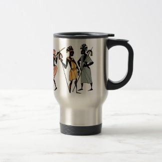 Travel mug African tribal native style
