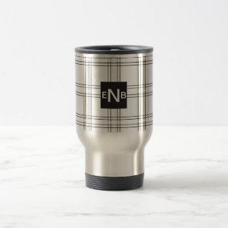 Travel Mug Customizable Crisp Black Lines
