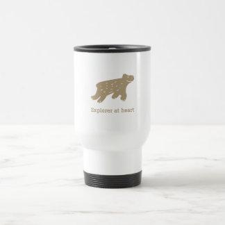 "Travel mug ""Explorer at heart"""