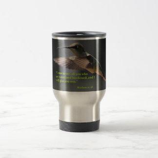 Travel mug...Hummingbird...rest...faith Travel Mug
