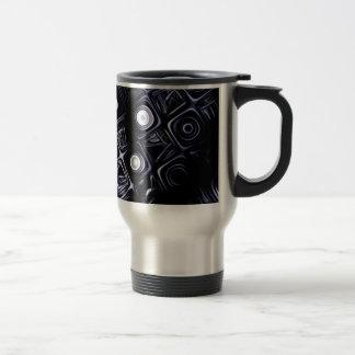 """Travel Mug, """"Mesh"""" Fractal Art"""