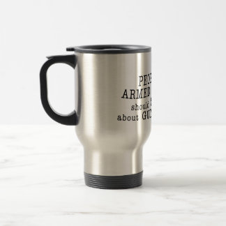 Travel mug speaks up for the Second Amendment