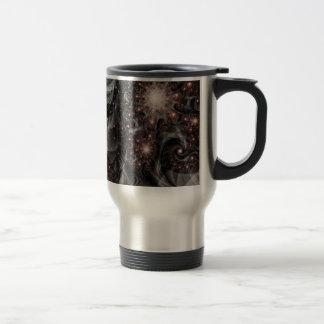 """Travel Mug, """"Star Forge"""" Fractal Art"""
