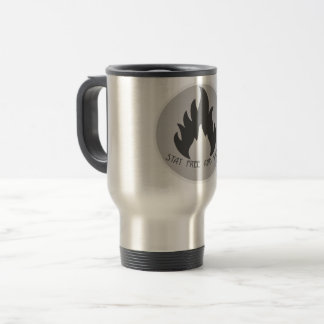Travel mug: stay wild and free (survival mug) travel mug