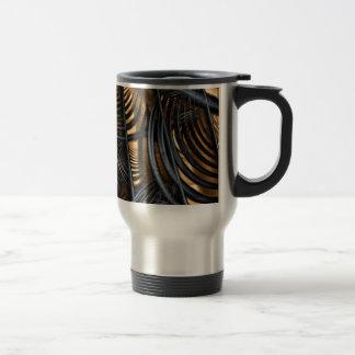 """Travel Mug, """"Sunrise"""" Fractal Art"""