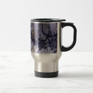 """Travel Mug, """"Swirl"""" Fractal Art Stainless Steel Travel Mug"""