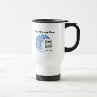 Travel Mug Template Globe