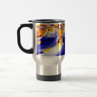 "Travel Mug, ""Thaw"" Fractal Art"