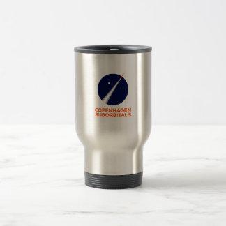 Travel mug with Copenhagen Suborbitals Logo