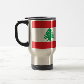 Travel Mug with Flag of Lebanon