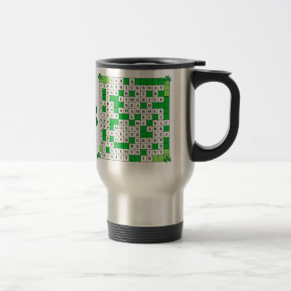 Travel Mug with St Patrick's Day Crossword on