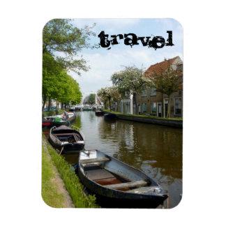 Travel (Netherlands Canal Boats) Rectangular Photo Magnet