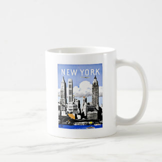 Travel New York America Vintage Coffee Mug