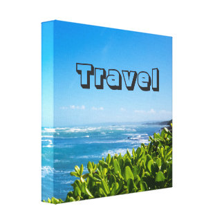 Travel Paradise | Custom Text Canvas Print