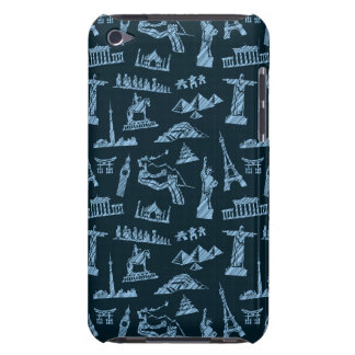 Travel Pattern In Blues Pattern Barely There iPod Cases