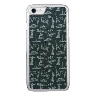 Travel Pattern In Blues Pattern Carved iPhone 7 Case