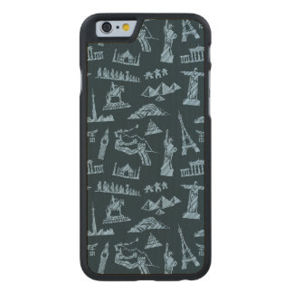 Travel Pattern In Blues Pattern Carved Maple iPhone 6 Case