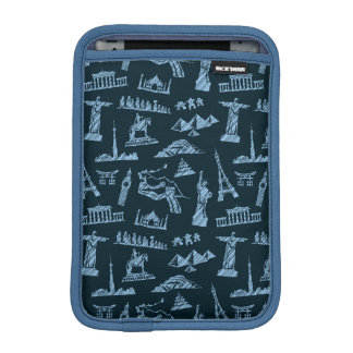 Travel Pattern In Blues Pattern iPad Mini Sleeve