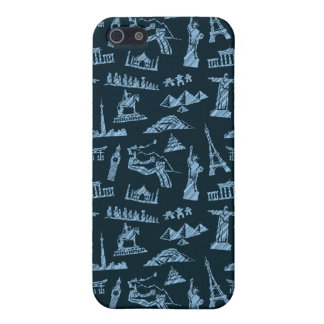 Travel Pattern In Blues Pattern iPhone 5 Cover