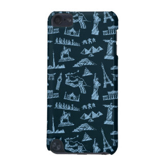 Travel Pattern In Blues Pattern iPod Touch 5G Covers