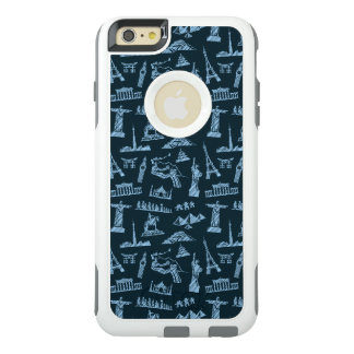 Travel Pattern In Blues Pattern OtterBox iPhone 6/6s Plus Case