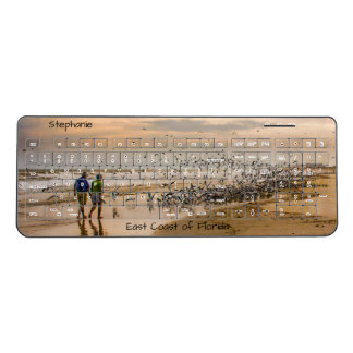 Travel Photography - East Coast of Florida Beach Wireless Keyboard