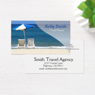 Travel Planner Agency Business Card