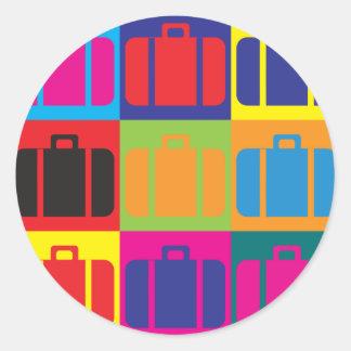 Travel Pop Art Classic Round Sticker