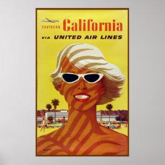 Travel poster California