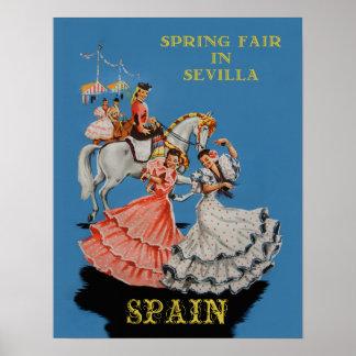 Travel poster for Sevilla, Spain