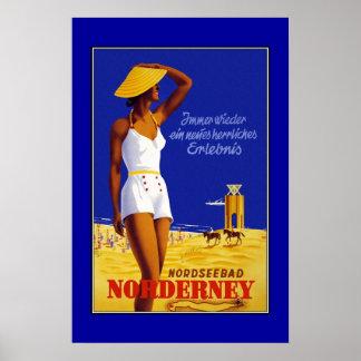Travel Poster Vintage Nordseebad Norderney