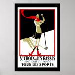 Travel Poster Vintage Saint Croix Skiing