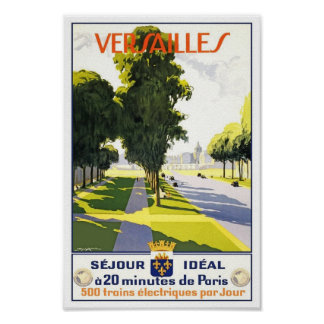 Travel Poster Vintage Versailles Paris Train