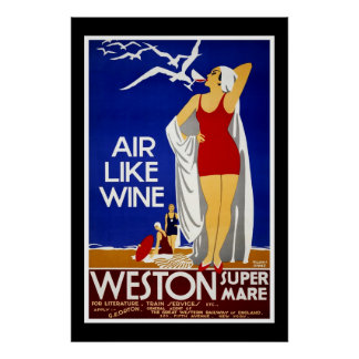 Travel Poster Vintage Weston Train New York