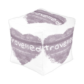 Travel purple travelled rustic bohemian pouf