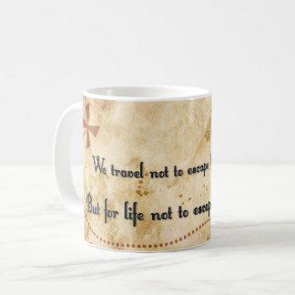 Travel quote mug