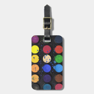 Travel Rainbow Paint Palette Pots Luggage Tag