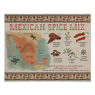 Travel Recipe Poster: Mexican Spice Mix