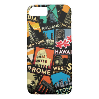 Travel retro vintage europe asia usa iPhone 8/7 case