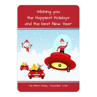 Travel safe for the Holiday, Santa Card