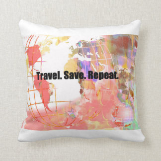 Travel Save Repeat Pillow