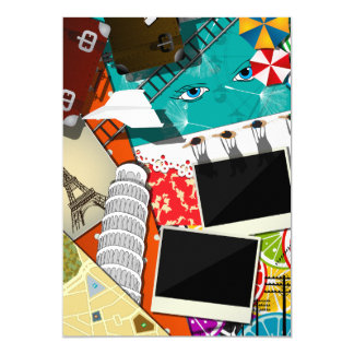 Travel Scrapbook Invitations