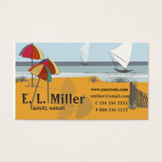 Travel SEASIDE Umbrellas Sailboats Ocean