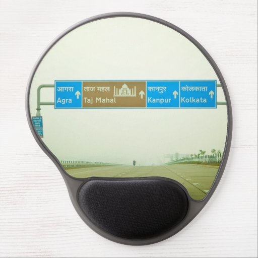 Travel Sign Gel Mouse Pad