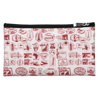 Travel Stamps Cosmetics Bags