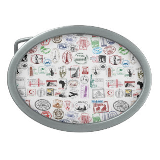 Travel Stamps Belt Buckles