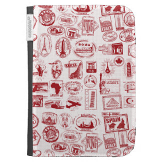 Travel Stamps Kindle Cases